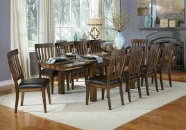 dining table with 10 chairs. 11 Piece Dining Table And Slatback Chairs Set With 10