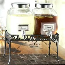 glass beverage dispenser with stand double 1 gallon glass style setter glass beverage dispenser with silver