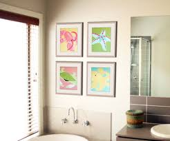 Framed Art Bathroom Best Orange Sink Idea With Yellow Framed Mirror And Wallstickers
