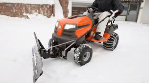 husqvarna tractors how to attach snow blade