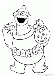 Small Picture Sesame Street Numbers Coloring Pages Free RedCabWorcester