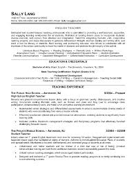 Teacher Resume Example Samples Resume Templates And Cover Letter