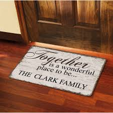 personalized front door matsPersonalized Together is a Wonderful Place to Be Doormat 17 x