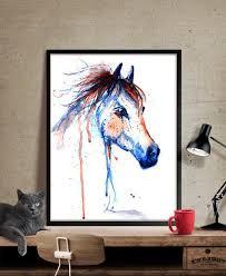 horse art horse decor watercolor horse painting wall art print horse print  on wall art pictures of horses with horse art horse decor watercolor horse painting wall art print