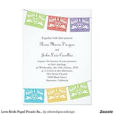 29 best love birds wedding invitations images on pinterest Spanish Wedding Invitations Online shop love birds papel picado banners wedding invitation created by alteredspacedesign Spanish Text for Wedding Invitations