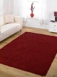 x large thick plain modern dark red gy rug 160x230 dark red rug