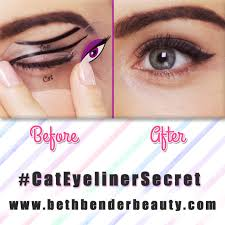 perfect cat eyeliner no problem beth bender beauty cat eyeliner stencils eyes