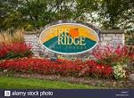 The Fire Ridge golf course sign near Millersburg, Ohio, USA Stock ...