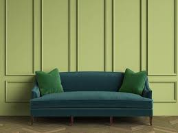 emerald green sofa. Plain Sofa Emerald Green Sofa With Pillows In Classic Interior Copy Space Green Walls Intended Sofa T