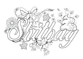 Free Printable Swear Word Coloring Pages Pdf Word Coloring Pages