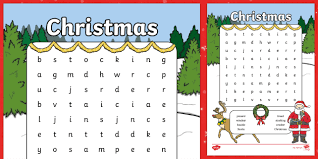 Dogs, cats, horses, tigers, wolves, elephants … …but also dinosaurs and insects … thematic coloring pages. Christmas Word Search For Kids Printable Resource