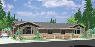 d 588 one story duplex house plans ranch duplex house plans 3 bedroom