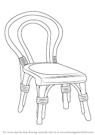 chair drawing. learn how to draw a decorative chair (furniture) step by : drawing tutorials
