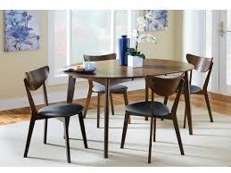 dark walnut dining table set