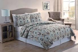 blue brown quilt bedding sets hq full nicole miller pc