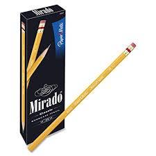 Amazon.com : Paper Mate Mirado Classic Pencils, Wood, HB #2, 12 ...