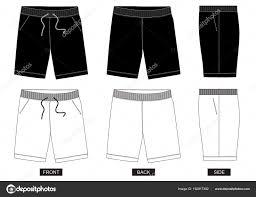Shorts Design Template Design Vector Template Shorts Collection Men Color Black