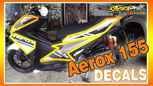 Aerox Decals Design Aerox 155 Installation Decals Motodeckals Stickazone Decalstory