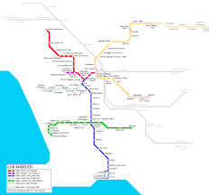 San Jose Light Rail Map Los Angeles Subway Map For Download Metro In Los Angeles