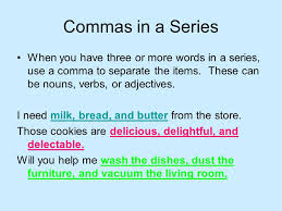Using Commas Second Grade Grammar When To Use A Comma There Are