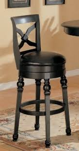 Coaster Lathrop 29 Inches Swivel Faux Leather Seat Bar Stool in Black Finish