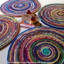 colorful fabric strip place mats chargers coasters free tutorial by creatingle llc