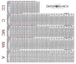 Deniro Boot Size Chart Tricolore By Deniro Amabile Smooth Dress Boots