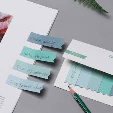 Office Guest Book Us 0 61 23 Off 100 Pages Paper Sticky Notes Gradient Guestbook Office Bookmark Marker Memo Index Flags Tab Strip Sticker Phone Book Stickers In