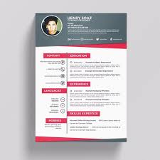 Resume Psd 380 Photoshop Graphic Resources For Free Download