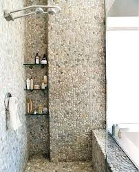 river rock floor cool and eye catchy bathroom shower tile ideas a color palettes in interior
