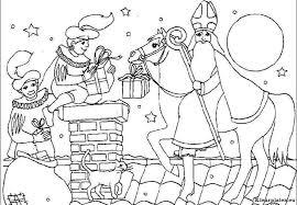 Sinterklaas Op Het Dak Kleurplaten Kleurplateneu