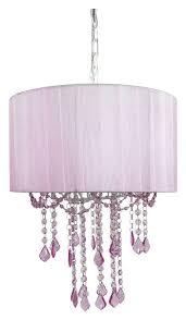 pink drum crystal chandelier