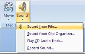 add or delete audio in your powerpoint presentation powerpoint the sound menu