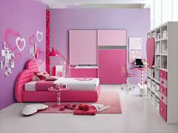 Small Pink Bedroom Simple And Neat Small Pink And Purple Girl Bedroom Decoration