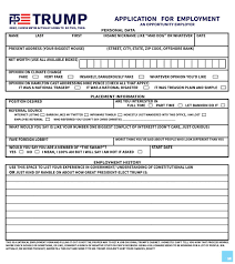 fill out this job application form to be considered for trump s image max knoblauch
