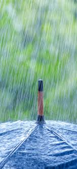 Heavy rain, umbrella 1242x2688 iPhone ...