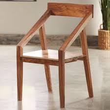 Sheesham Wood Angled Arm Chair
