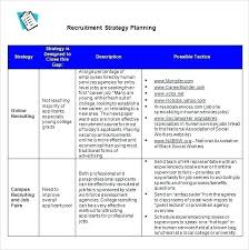 Recruiting Plan Template College Recruitment Plan Template Recruitment Strategy