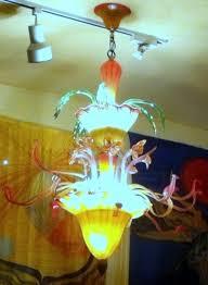 tropical blown glass flower chandelier handmade u unique lighting