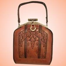 art nouveau tooled leather purse girl stuff antique and vintage jewelry ruby lane