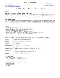 Updating Resume After First Job Examples Resume Template Welder