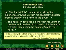 the scarlet ibis by james hurst ppt video online  the scarlet ibis introducing the story