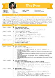 Example Teaching Resumes Resume Examples By Real People Teacher Resume Example