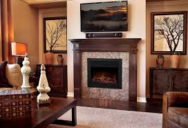 image of room electric fireplace insert