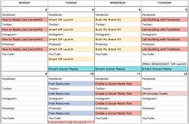 Media Blocking Chart Template How To Create A Social Media Calendar A Template For