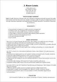 Quality Assurance Resumes Awesome Resume For Quality Assurance