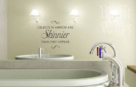 objects in mirror bathroom vinyl wall decal on wall art stickers bathroom with objects in mirror bathroom wall decals vinyl art stickers