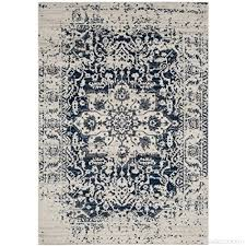 safavieh madison collection mad603d cream and navy distressed medallion area rug 4 x 6 b01gs3nmdo