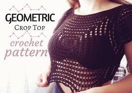 Crochet Crop Top Pattern Amazing Geometric Crop Top Free Crochet Pattern The Magic Loop