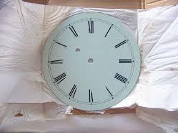 vintage willard banjo reion metal painted clock dial 8 inch diameter